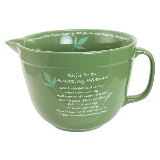 Amazing Woman Mixing Bowl in Green
