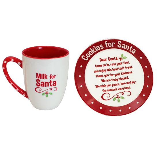 MPS201 Santa Mug and Cookie Plate