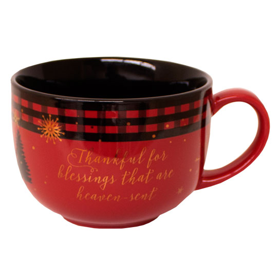 Cozy and Content Soup Mug