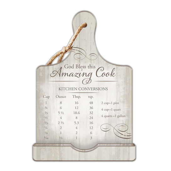 BH201 God Bless this Amazing Cook Cookbook Stand