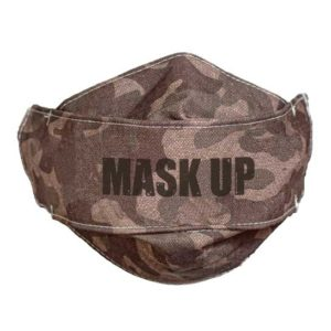 MSK110 Mask Up Camo Print Face Mask