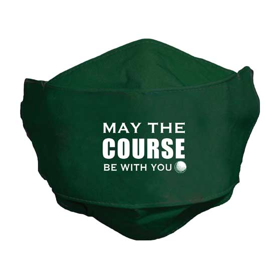 MSK111 May the Course Be With You Face Mask