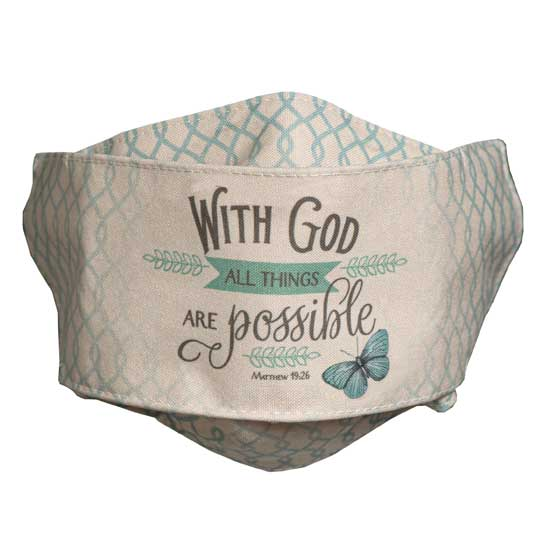 MSK119 With God All Things Face Mask