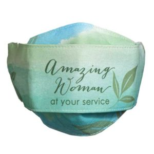 MSK122 Amazing Woman Leaf Face Mask