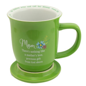 MUG101 Mom Coffee Mug with Coaster Back