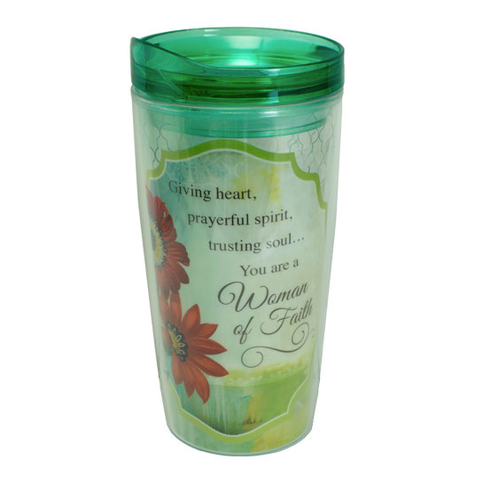 MUG116 Woman of Faith Travel Mug Christian Gifts