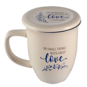 MUG121 Do Small Thing with Great Love Coffee Mug Mother Teresa