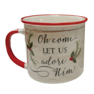 MUG133 Let us Adore Him Coffee Mug front