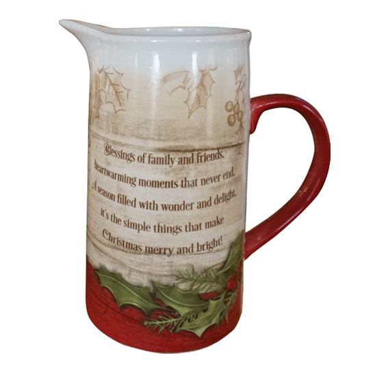 PITCH102 Christmas Cheer Water Pitcher Back