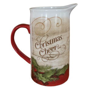 PITCH102 Christmas Cheer Water Pitcher Front