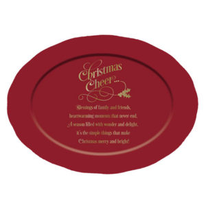 PLATR102 Christmas Cheer Serving Platter christian gifts