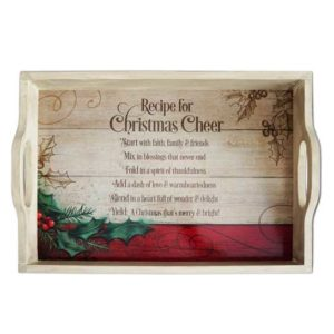 ST201 Christmas Cheer Serving Tray Christian Gifts