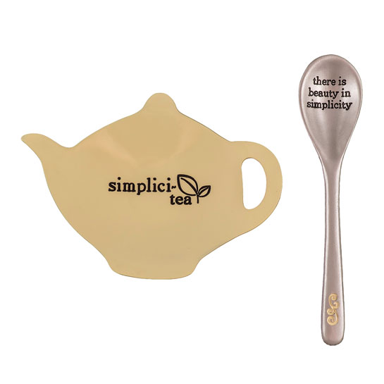 TTS102 Simplicity Tea Bag Holder and Spoon