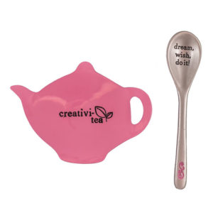 TTS106 Creativity Tea Bag Holder and Spoon