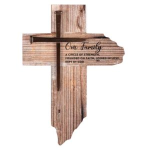 WC363 Rustic Family Wall Cross christian gifts