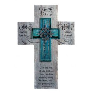 WC369 Faith Looks Up Cross Matthew 11:28 Christian Gifts