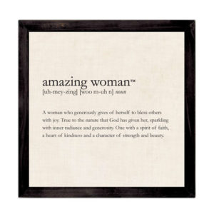 WP518 Amazing Woman Framed Definition Wall Art