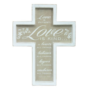 57737 Love is Patient Wall Cross