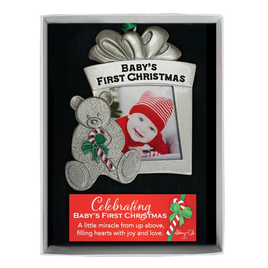 CO893 Babys First Christmas Photo Ornament