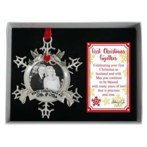 CO896 First Christmas Together Snowflake Ornament