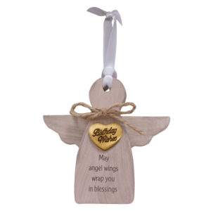CO932 Birthday Wishes Angel Christmas Ornament