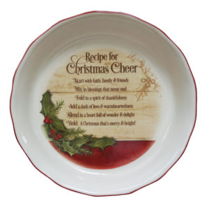 PIE107 Christmas Cheer Pie Plate Christian Gifts