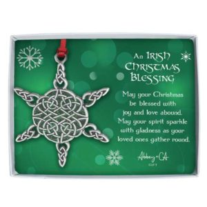 PO102 Irish Christmas Blessing Ornament Christian Gifts