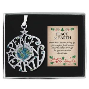 PO501 Peace on Earth Christmas Ornament