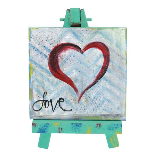 SAN183 Love Mini Easel