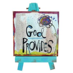 SAN188 God Provides Mini Easel