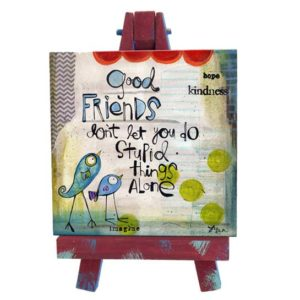 SAN189 Good Friends Mini Easel