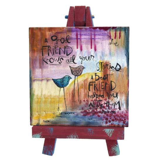 SAN191 A Good Friend Mini Easel