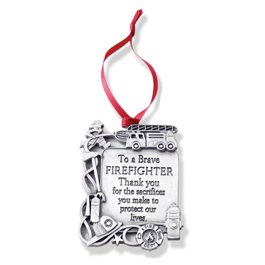 CO762 Metal Firefighter Ornament christmas gift
