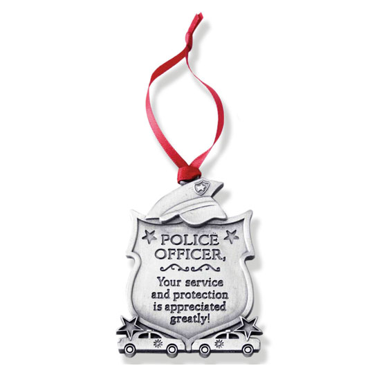 CO763 Metal Police Ornament christmas gift