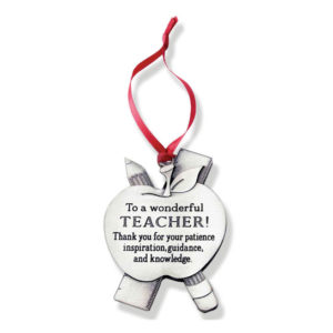 CO765 Metal Teacher Ornament Christmas inspirational products gifts