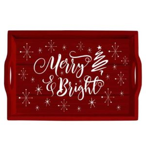 ST202 merry and bright serving tray