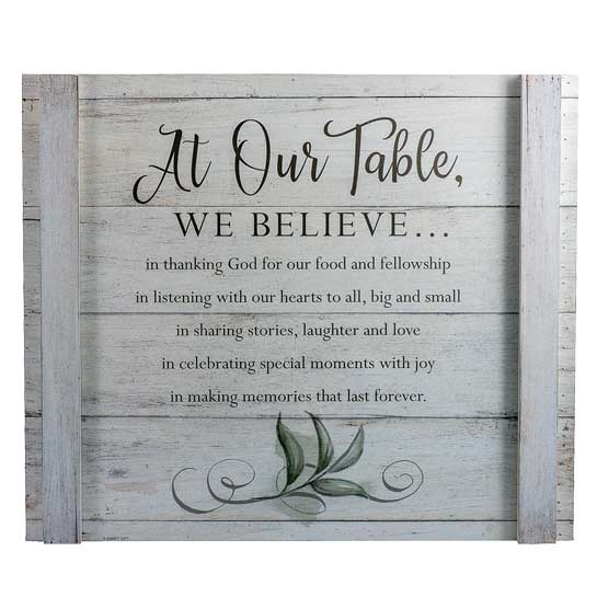 WP535 At Our Table Wall Decor Christian Gift
