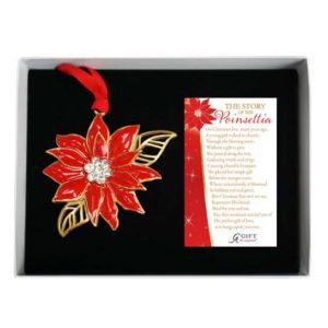 CO891 Poinsettia Christmas Ornament
