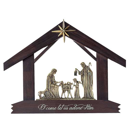 NT112 Nativity Plaque Christmas Gift