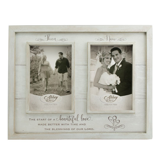 57668 Then and Now Photo Frame Anniversary Gift