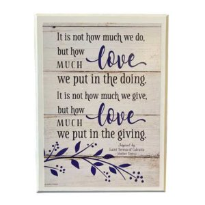 57733 Mother Teresa Love Wall Decor