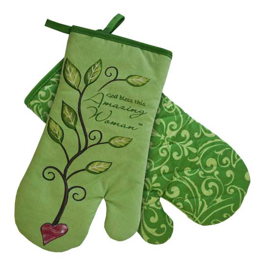 AW329 Amazing Woman Oven Mitt