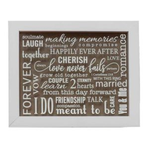 WP543 Wedding Love Word Plaque