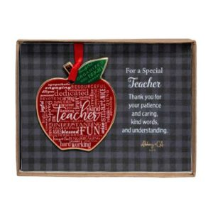 CO937 Teacher Apple Ornament
