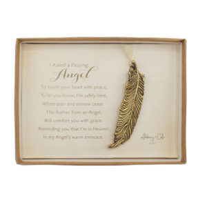 CO942 Memorial Angel Feather Ornament