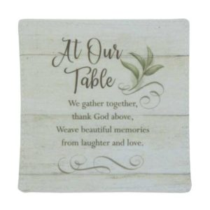 CSTR107 At Our Table Fabric Coaster Set