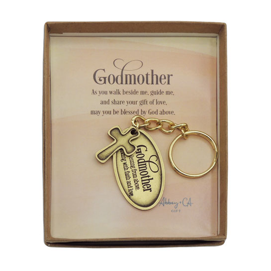 KR585 Godmother Key Ring with Cross