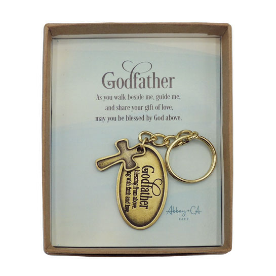 KR586 Godfather Key Ring with Cross