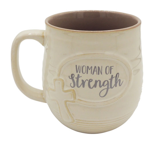 MUG140 Woman of Strength Pottery Mug
