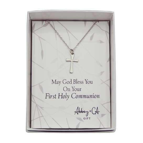 PL342 First Communion Cross Pendant Necklace